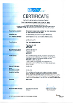 Certificate EN 1090-1
