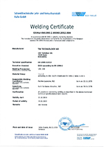 Certificate EN 1090-2
