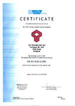 Certificate EN ISO 3834-2